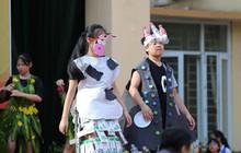 Độc đáo chương trình biểu diễn thời trang chung tay bảo vệ môi trường của học sinh Hà Nội