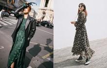 Bỗng thấy không kiểu váy nào vượt qua được váy dài về độ sang chảnh, yêu kiều và hợp rơ với tiết trời se lạnh