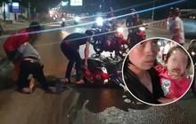 Bình Dương: Hàng chục xe ngã dúi dụi, trẻ em và bà bầu khóc thét vì bị trượt té trên đường đầy dầu nhớt