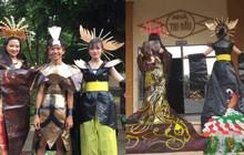 Tự tin trình diễn trang phục tái chế với phong cách hoàng gia quý tộc, nhóm học sinh cấp 3 bỗng nổi như cồn trên MXH
