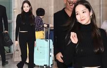 """2 ngày liên tiếp gây bão, """"nữ hoàng dao kéo"""" Park Min Young diện cả cây đen đơn giản mà leo lên hàng loạt đầu báo"""