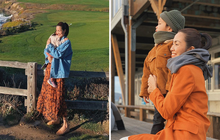 """Lâu lâu mới thấy Hà Tăng khoe ảnh các con lên Instagram nhiều liên tiếp như đợt này, mà toàn chọn những nơi """"độc"""" để check-in"""