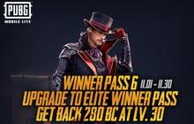 PUBG Mobile Lite: Winner Pass 6 đã có mặt với nhiều phần thưởng độc quyền chờ người chơi khám phá