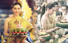 """Nữ thần lễ hội hoa đăng Thái Lan 11/11 gây náo loạn vì nhan sắc cực phẩm, nhưng sao lại bị đèn flash """"hại"""" đến mức này?"""