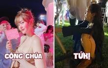 """Nhìn lại màn biến hoá từ công chúa lộng lẫy thành """"cô gái đáng thương"""" của Minh Hằng trong tiệc cưới vừa xong: Đồng cảm!"""