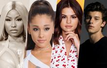 """Một năm trôi qua, hội chị em Ariana Grande, Shawn Mendes, Selena Gomez đều thoát khỏi """"dớp"""" của Billboard, chỉ riêng Nicki Minaj vẫn ngậm ngùi!"""