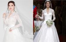 Bảo Thy khoe 3 mẫu váy cưới lộng lẫy, trong đó có 1 bộ phảng phất thiết kế kinh điển của Công nương Kate