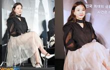 """Tranh cãi """"Hoa hậu Hàn đẹp nhất thế giới"""" Honey Lee diện váy xuyên thấu """"mặc như không"""", dáng ngồi hớ hênh ở sự kiện"""
