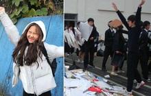 """Choáng với cách học sinh Hàn Quốc xả hơi sau thi ĐH: Kẻ đua nhau vứt luôn sách vở ở cổng trường, người vào thẩm mỹ viện """"đập mặt đổi đời"""""""