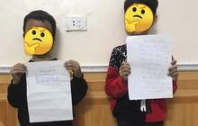 2 nam sinh tiểu học bị cô giáo phạt vì viết thư cho bạn gái, điều đáng nói là nội dung bản kiểm điểm quá buồn cười