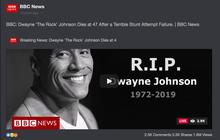 """Chấn động tin BBC tuyên bố tài tử """"Fast & Furious"""" The Rock qua đời, nhưng sao vẫn online đăng ảnh ầm ầm thế này?"""
