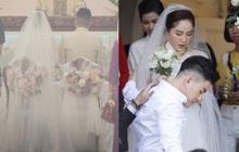 Trực tiếp đám cưới Bảo Thy: Cô dâu diện váy trắng, cùng ông xã doanh nhân làm lễ trong nhà thờ