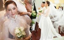 Áo dài cưới của Bảo Thy: Nhìn xa tưởng đơn giản, ngắm kỹ mới thấy được hết vẻ lộng lẫy sang trọng