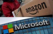"""Bị Microsoft nẫng tay trên hợp đồng trị giá 10 tỷ USD, Amazon lập tức """"phản đòn"""""""