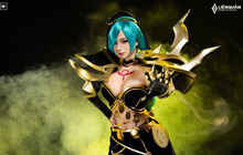 """Liên Quân Mobile: Nghẹt thở với bộ ảnh cosplay """"bức tử vòng 1"""" của skin mới Mina Lưỡi Hái Hoàng Kim"""
