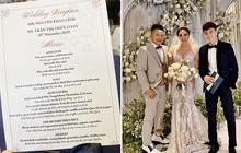 """Choáng với thực đơn vô cùng """"giàu sang"""" cả về chất và lượng của đám cưới Bảo Thy và ông xã doanh nhân"""
