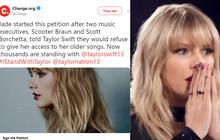 Hơn 100.000 người hâm mộ kí vào đơn yêu cầu để Taylor Swift được trình diễn các bản hit của mình, quyết không để vụ việc bị chôn vùi!