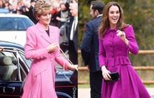 Diện đồ tím chuẩn trend, Công nương Kate lại khiến dân tình nhớ đến hình ảnh của mẹ chồng Diana
