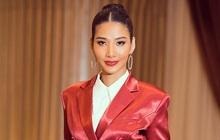 Tương tự Hương Ly, Hoàng Thùy mặc vest đi phỏng vấn thi Hoa hậu và lập tức gây tranh cãi