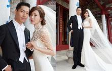 Đám cưới Lâm Chí Linh: Cận cảnh chiếc váy cưới phủ ngọc trai của cô dâu 45 tuổi