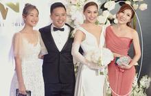 Giữa cả dàn khách mời diện đúng chuẩn dress code tại lễ cưới Giang Hồng Ngọc, một mình Trang Pháp diện đồ lệch tông