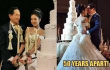 Sau mấy chục năm độc thân chú rể đại gia mới thoát ế nhờ cưới được vợ trẻ hơn 50 tuổi, nhan sắc cô dâu gây chú ý