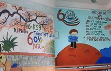 Hô biến kỳ diệu, học trò biến bức tường lớp học đơn điệu trở thành tấm thiệp handmade ý nghĩa tri ân thầy cô ngày 20/11