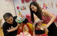 Hoài Lâm tổ chức sinh nhật cho con gái tròn 2 tuổi, cả gia đình 4 thành viên lần đầu đứng chung một khung hình