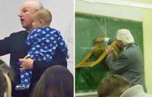 Chùm ảnh những người thầy cô dành cả một đời tận tuỵ: Người vừa bế con của sinh viên vừa giảng bài, người mỗi ngày cosplay một nhân vật truyền cảm hứng
