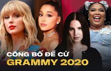 """Công bố đề cử Grammy 2020: """"nói không"""" với Kpop; Taylor Swift, Lana Del Rey nhận """"quả ngọt"""", rapper được BTS săn đón hoàn toàn thống trị!"""