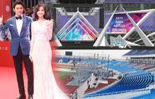 Sân khấu lễ trao giải AAA 2019 hội tụ TWICE, Yoona và quân đoàn sao Hàn ở SVĐ Mỹ Đình bắt đầu xây dựng: Sao khủng thế này?