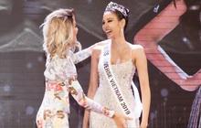 """H'Hen Niê trao lại """"sash"""" cho Hoàng Thùy - đại diện Việt Nam kỳ vọng sẽ về mang vương miện Miss Universe đầu tiên!"""