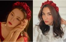 """Cùng diện bờm nhung đỏ: Seulgi lộng lẫy như công chúa Hoàng gia, Hà Tăng biến hóa cực """"nuột"""""""