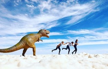 """Muốn ảnh hết """"nhạt"""" thì nên một lần đến """"sống ảo"""" ở cánh đồng muối siêu to khổng lồ này"""