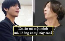 """Jungkook (BTS) """"muối mặt"""" khi bị các anh phát hiện ăn """"mảnh"""" trong show thực tế Bon Voyage"""