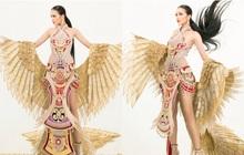 Lộ diện quốc phục của Ngọc Châu tại Miss Supranational: Dài 5 mét, đính kết từ 10.000 mảnh tạo cánh chim Lạc hoành tráng