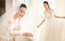 Vắng chú rể, MC Hoàng Oanh một mình đi thử váy cưới vẫn đẹp mơ màng trước ngày trọng đại
