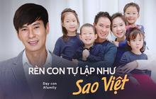 Bận trăm công nghìn việc, đây là cách vợ chồng Lý Hải Minh Hà cùng loạt sao Việt đình đám rèn con tự lập từ nhỏ