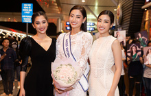 Đỗ Mỹ Linh, Tiểu Vy và dàn mỹ nhân gây náo loạn sân bay khi tiễn Thùy Linh lên đường đi Anh dự thi Miss World