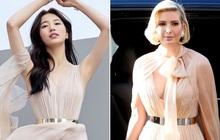 """Sửa váy cho kín đáo chứ không """"lồ lộ"""" như Ivanka Trump, Suzy khẳng định: Vòng 1 khủng hơn chưa chắc đã mặc đẹp hơn!"""