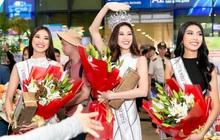 Tân Hoa hậu Hoàn vũ Khánh Vân cùng 2 Á hậu rạng rỡ trở về sau đăng quang, fan vây kín sân bay đón chào