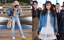 """Cùng một chiếc áo khoác 30 triệu VNĐ: Jennie lúc cute xỉu lúc cool ngầu, Địch Lệ Nhiệt Ba lại """"bánh bèo"""" hết sức"""