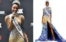 Bật mí chi tiết váy đỉnh cao giúp Zozibini Tunzi che nhược điểm đôi vai để xuất sắc đăng quang Miss Universe 2019