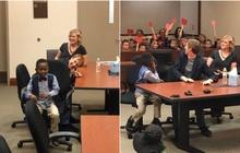 """Quá vui sướng khi được nhận nuôi, cậu bé 5 tuổi mời cả lớp đến tham dự phiên tòa đặc biệt, kèm theo lời nhắn: """"Các bạn cũng như gia đình của con"""""""