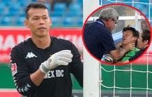 """Thủ môn Việt Nam lên tiếng về bức ảnh bị bóp cổ ở SEA Games: """"Thầy muốn tôi ở lại để chứng kiến thất bại của đội nhà"""""""