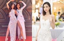 """Diện bộ đầm xẻ cao để đáp trả những nghi ngại về nhan sắc, tân Hoa hậu Khánh Vân """"đụng hàng"""" cả loạt Hoa hậu đàn chị"""