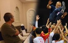 U22 Việt Nam vô địch SEA Games, fan hâm mộ không quên cảm ơn bầu Đức khi thấy ông lặng theo dõi trận chung kết qua tivi