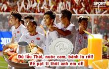 Loạt ảnh chế hành trình đến HCV của đội tuyển Việt Nam: sao nhìn đâu cũng thấy đồ ăn là như nào?