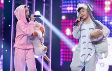 """Cặp đôi vàng nhí: Long Nhật nhún nhảy không ngừng khi xem """"hot boy lai Hàn"""" trình diễn hit Big Bang"""