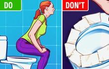 Lý do chúng ta nên bỏ ngay thói quen lót giấy khi đi toilet công cộng: Nó chẳng ý nghĩa gì đâu